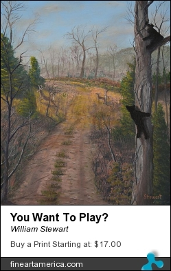 You Want To Play? by William Stewart - Painting - Aqrylic
