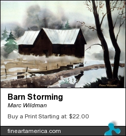 Barn Storming by Marc Wildman - Painting - Watercolors