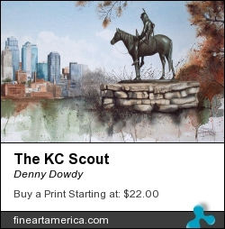 The Kc Scout by Denny Dowdy - Painting - Watercolor