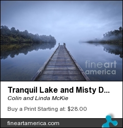 Tranquil Lake And Misty Dawn by Colin and Linda McKie - Photograph - Photography