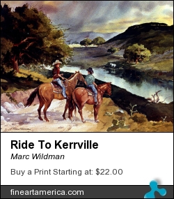 Ride To Kerrville by Marc Wildman - Painting - Watercolors