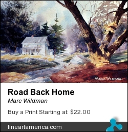 Road Back Home by Marc Wildman - Painting - Watercolors