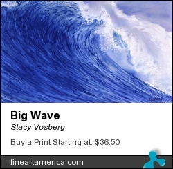 Big Wave by Stacy Vosberg - Painting - Oil On Panel