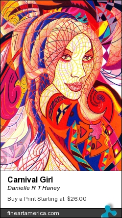 Carnival Girl by Danielle R T Haney - Drawing - Colored Pencil On Paper