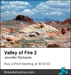 Valley Of Fire 2 by Jennifer Richards - Photograph - Photograph