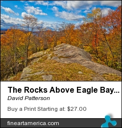 The Rocks Above Eagle Bay In The Adirondacks by David Patterson - Photograph - Photography